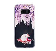 Для samsung galaxy s8 плюс s8 крышка корпуса кошка образец падение клей лак высокое качество тпу материал чехол для телефона s7 edge s7 s5