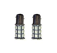 2шт 1157 27 * 5050smd светодиодный фонарик для автомобиля зеленый свет dc12v