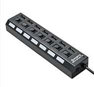 7 Port USB 2.0 High Speed HUB with Switch