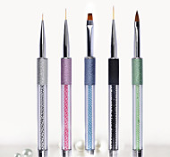 1PC Nail Art  Grind Arenaceous A pencil Pearl Nails Stay Paint Pen Phototherapy Pen  5 Paragraph Optional