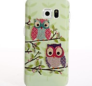 For samsung Galaxy S8 Plus S8 Cartoon Couple Owl TPU Protection Back Cover Box S7 Edge S7