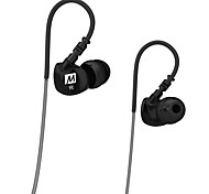 MEELECTRONICS M6 Mobile Earphone for Cellphone Computer Sports Fitness In-Ear Wired Silicone 3.5mm With Microphone Noise-Cancelling