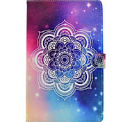 For Samsung Galaxy Tab T580 T530 PU Leather Material Star Mandala Pattern Painted Flat Protective Cover T550 T560 T280 T350
