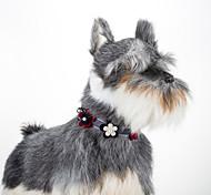 Кошка собака цветочный регулируемый воротник bowtie
