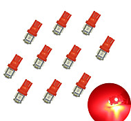 10Pcs T10 5*5050  SMD LED Car Light bulb red Light DC12V