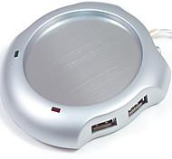 Vacuum Cup Pad USB Insulation Aluminum Alloy Disc Vacuum Cup Mat Cup Warmers