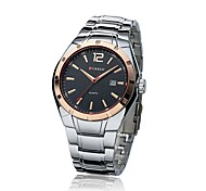 Carrian Fashion Simple Simple Business Calendar Male Male Table Foreign Trade Hot Steel Table Male Watch Import Movement