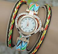 Women's Fashion Watch Bracelet Watch Quartz Leather Band Heart shape
