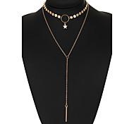 Жен. Ожерелья-бархатки Бриллиант В форме звезды Сплав Уникальный дизайн Бикини бижутерия Бижутерия Назначение Свадьба Для вечеринок
