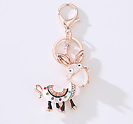 The New Car Bag Key Ring The Cartoon Small Donkey Metal Creative Set The Key ring