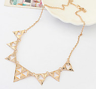 Triangle Punk Tangerine Necklace Exaggerated Trend Accessories Fashion Vintage Necklace  Statement Pendant Necklace Big