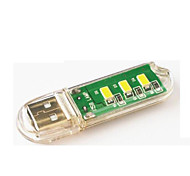 1pcs mini usb 3led luz luz da noite