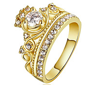 Bagues Affirmées Bague Bague de fiançailles Cristal Zircon cubique Mode Personnalisé euroaméricains Bijoux de Luxe Bijoux FantaisieCuivre