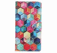 Pour apple iphone 7 plus 7 6s plus 6plus 5s se case cover carte porte portefeuille avec support flip pattern plein corps étui géométrique