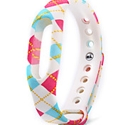 Colorful Pattern TPU Watch Band for Xiaomi Miband 1/1s
