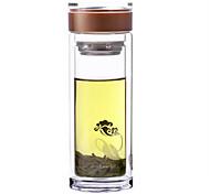 Doppelwand Business Glas Wasser Tasse 300ml