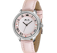 Women's Fashion Watch Quartz / Leather Band Casual Pink Blushing Pink