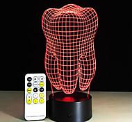 Zähne Typ 3d led Lampe dental kreatives Geschenk bunt 3d Zahn Steigung Licht zahnärztliche Klinik Kunstwerk artware Nacht Zähne Form