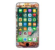 1 pieza Anti-Arañazos Flor De Plástico Transparente Adhesivo Fosforescente Diseño ParaiPhone 7 Plus iPhone 7 iPhone 6s Plus/6 Plus iPhone