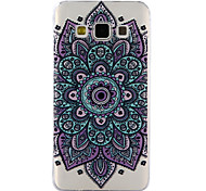 Для samsung galaxy a3 a5 (2017) покрытие корпуса datura цветы рисунок образец клей лак высокое качество тпу материал телефон корпус a3 a5