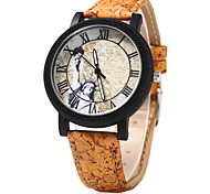 Women's Dress Watch Fashion Watch Wood Watch Chinese Quartz Wood Band Vintage Cartoon Unique Creative Beige