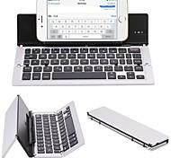 F18 portátil ultra fino dobrável liga de alumínio bluetooth 3.0 teclado sem fio para telefone celular tablet pc