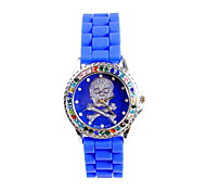 Women's Fashion Watch Quartz Silicone Band White Blue Pink