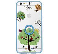 Для держателя кольца прозрачный чехол задней стороны обложки рисунок дерева жесткий pc для apple iphone 6s плюс iphone 6 плюс iphone 6s