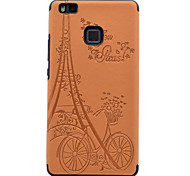 For Huawei P9 P9lite Embossed Pattern Case Back Cover Case Eiffel Tower Soft TPU
