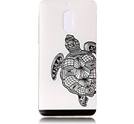 For Nokia 6 Case Cover Tortoise Pattern Painted Relief High Penetration TPU Material Phone Case