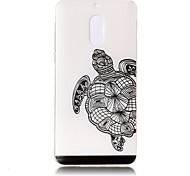 Для Чехлы панели Прозрачный Рельефный С узором Задняя крышка Кейс для Животный принт Мягкий TPU для Nokia Nokia 6