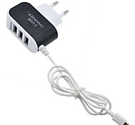 Home Charger Portable Charger For Cellphone 3 USB Ports EU Plug