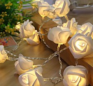 10 Led Rose Flower String Strip Fairy Lights For Holiday Wedding Decor Light  Powered By AA Battery (Not Include)