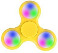 Спиннеры от стресса Ручной обтекатель Игрушки Tri-Spinner LED Spinner Пластик EDCLED подсветка Стресс и тревога помощи Товары для офиса