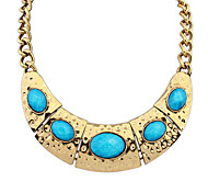 Women's Strands Necklaces Jewelry Jewelry Gem Alloy Euramerican Fashion Personalized Light Green Light Blue Red Yellow Jewelry ForParty
