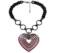 Women's Pendant Necklaces Heart Chrome Unique Design Personalized Blushing Pink Jewelry For Gift Outdoor 1pc