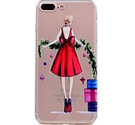 Для iphone 7 плюс 7 случай телефона красная юбка сексуальная картина девушки мягкий материал телефона телефона tpu 6s плюс 6s 6 se 5s 5