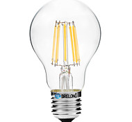 8W Bombillas de Filamento LED A60(A19) 8 COB 600 lm Blanco Cálido Blanco V 1 pieza
