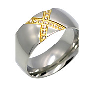 Fashion Crossover 'X' Shape Titanium Steel Rings 18K Gold Brand Design  Fashion Jewelry For Women