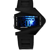 Men's Fashion Watch Digital Watch Digital Silicone Band Black White Blue Green Rose