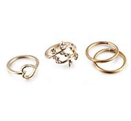 Жен. Набор украшений Классические кольца Кольцо на кончик пальца Любовь европейский Простой стиль бижутерия Цирконий Стразы Сплав В форме