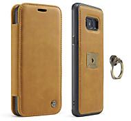 Caseme® чехол для samsung galaxy s8 s8 plus держатель карты флип телефон чехол натуральная кожа для галактики samsung s7 s7 край
