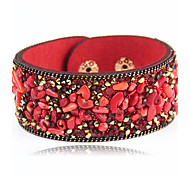 Women's Leather Bracelet Jewelry Fashion Punk Leather Alloy Round Jewelry For Special Occasion Sports 1pc