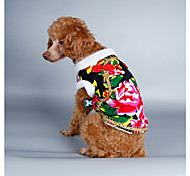 Собака Костюмы Плащи Толстовка Одежда для собак Рождество Новый год Природа Черный Красный Зеленый Синий
