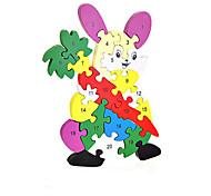 Jigsaw Puzzles DIY KIT Building Blocks DIY Toys Rabbit Wooden