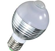 AC85-265V 5W LED Human Body Sensor Smart Bulbs A60 10 SMD 5730 450 lm Warm White Cool White V 1 pcs