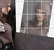 Зеркала Наклейки Зеркальные стикеры Декоративные наклейки на стены,Винил материал Украшение дома Наклейка на стену