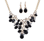 Women's Jewelry Set Euramerican Fashion Resin Alloy Drop Necklace Earrings For Party 1 Set Wedding Gifts