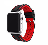 For Apple Watch Series 1 2 Sport strap for iWatch Soft Silicone Replacement Band  Stainless Steel Adapters 38mm 42mm