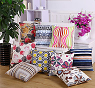 16 Design Creative Geometry Flowers Pillow Cover Novelty Cotton/Linen Pillow Case